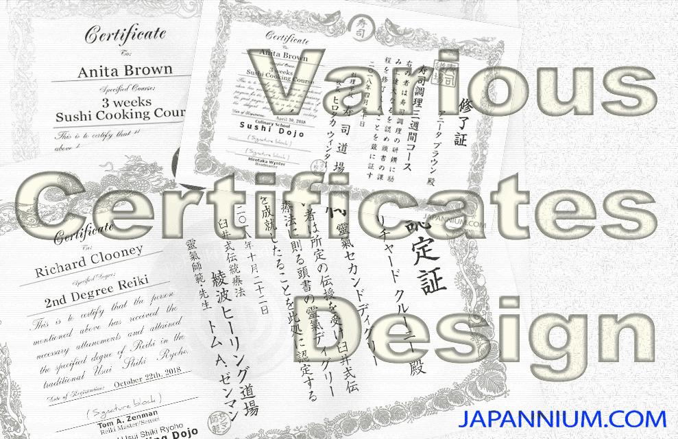 Various Certificates Design