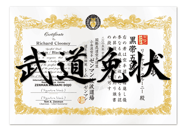 Martial Arts Certificates Design Service