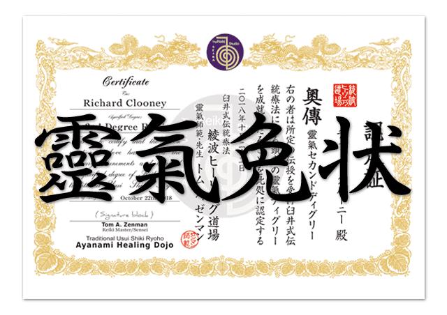 Reiki Certificates Design Service
