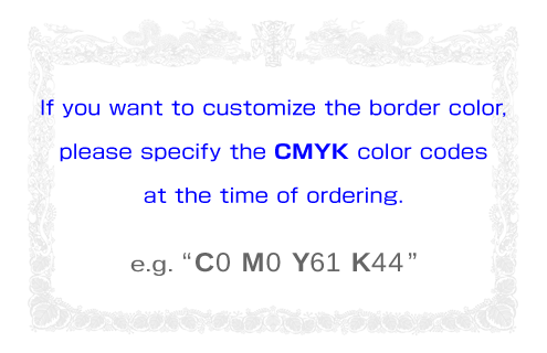 Border colors should be in CMYK code